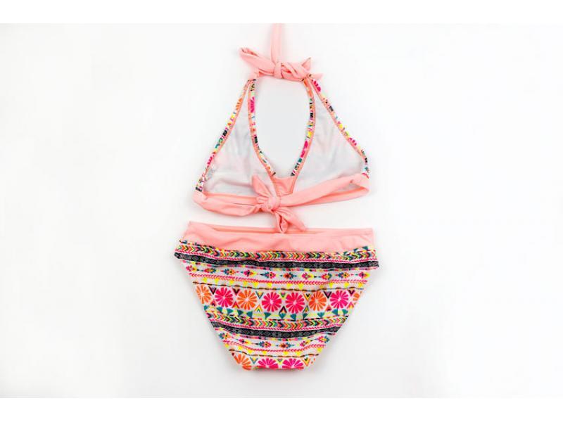 Girl bikini swimwear tight height elastic stripes children's swimwear manufacturers direct sales