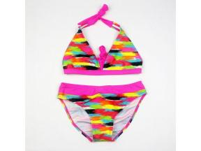 Girl bikini swimwear tight height elastic color cloth children's swimwear manufacturers direct sale