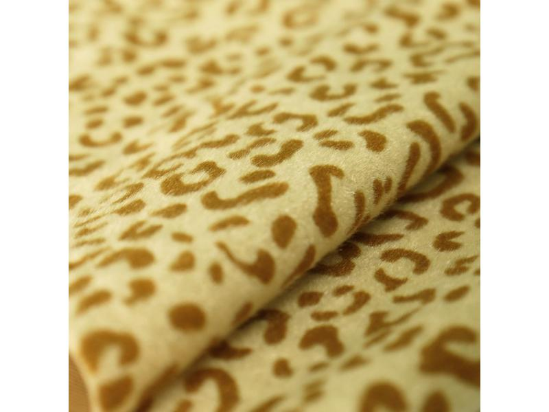 Leopard Flocking Synthetic Leather for Shoes