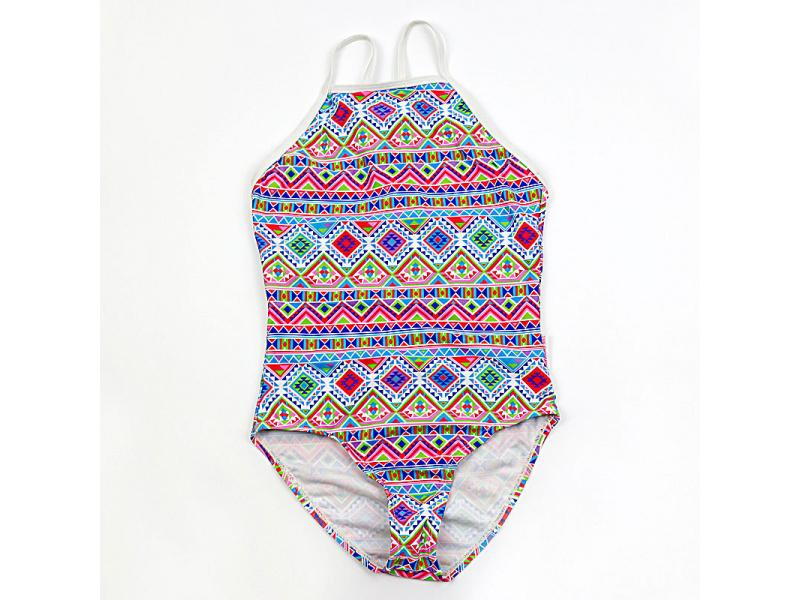 Swimming pool girls one-piece swimsuit children's sling one-piece swimsuit triangle foreign trade g