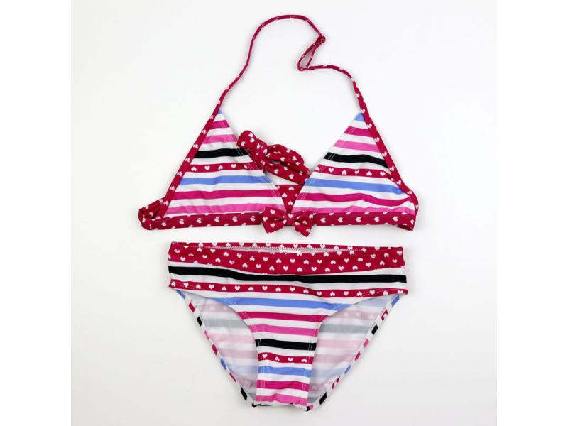 New cuhk cute polka dot striped split bikini for children