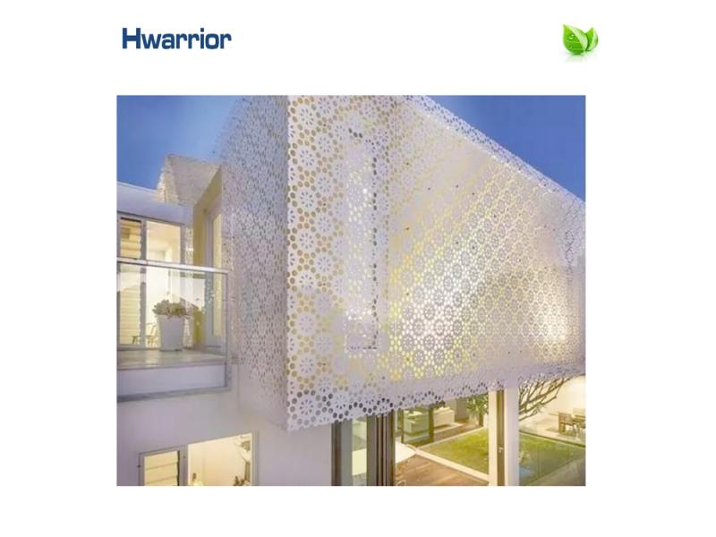 Latest modern design aluminum perforated panel cladding