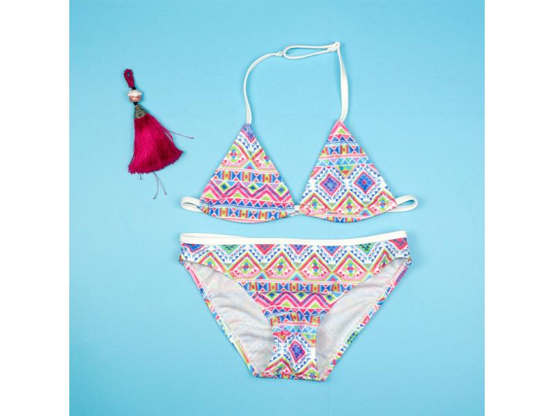 Girl bikini baby swimsuit girl ethnic style pattern small and medium split children's swimsuit Euro