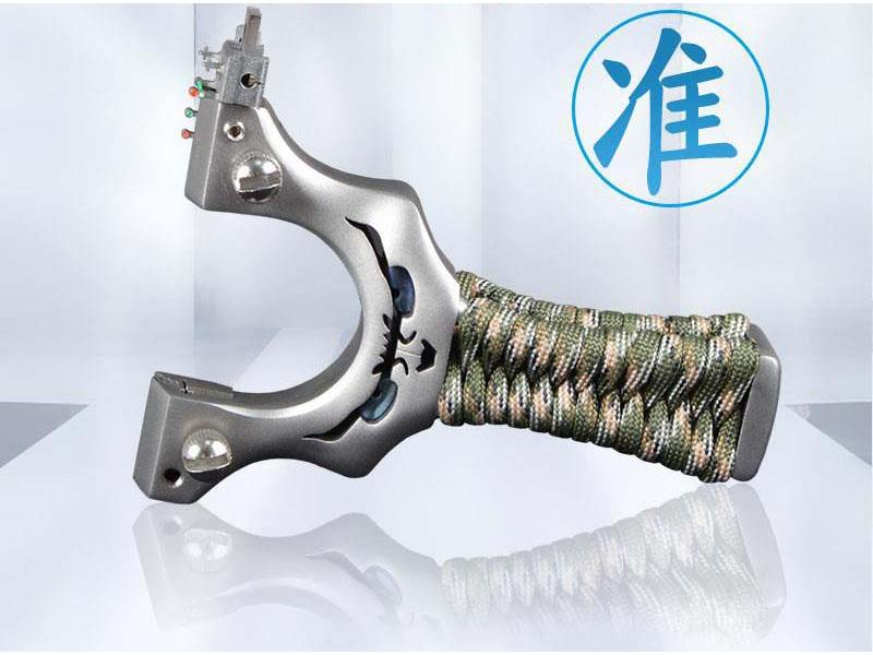 Stainless steel little monster slingshot small devil bow ghostly fast pressure free tied slingshot