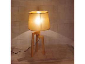 Nordic tripod living room lamp floor lamp Japanese sitting room bedroom vertical solid wood art simp