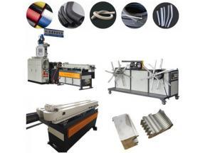 High quality PP/PE/PVC/EVA/PA flexible single wall corrugated pipe extrusion machine
