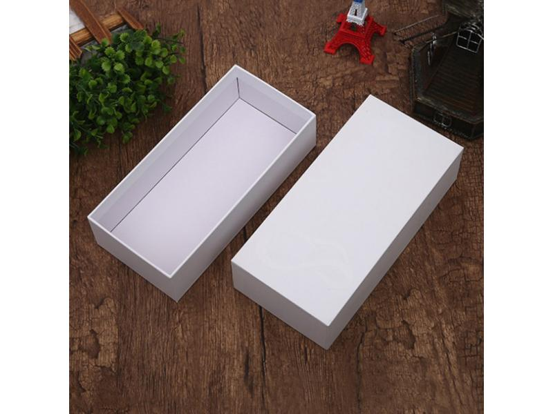 Small white box cosmetics box rectangular blank carton single powder cardboard gift box