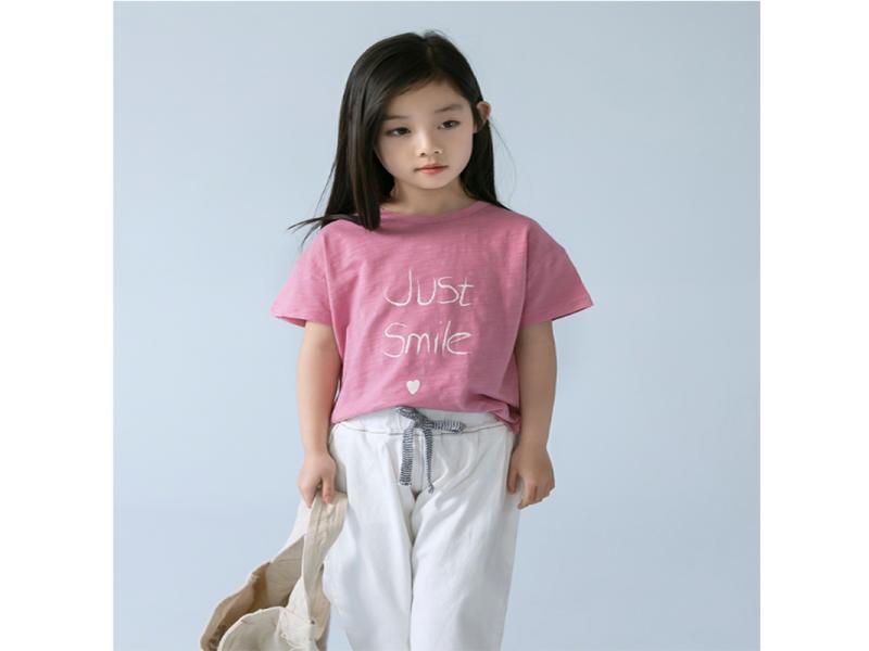 Girls t-shirt short-sleeved 2019 summer new Korean children's ocean round neck cotton shirt shirt s