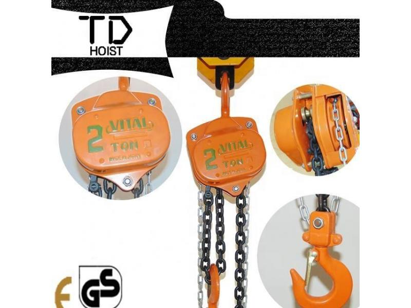 hand vital manual chain hoist block 5ton *6m Japanese standard for Middle east market