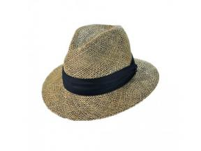 Natural mens straw fedora seagrass hat