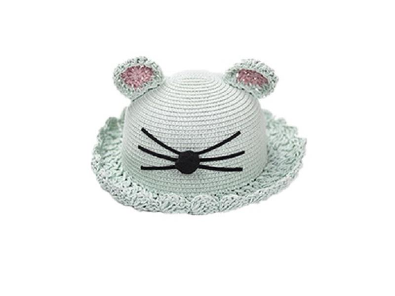 Fashion cat ear custom kids straw hat
