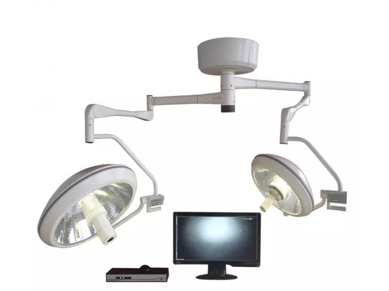 WYZ500/700 Dual Light Heads Ceiling Halogen OT Light with Built-in HD Video Camera System
