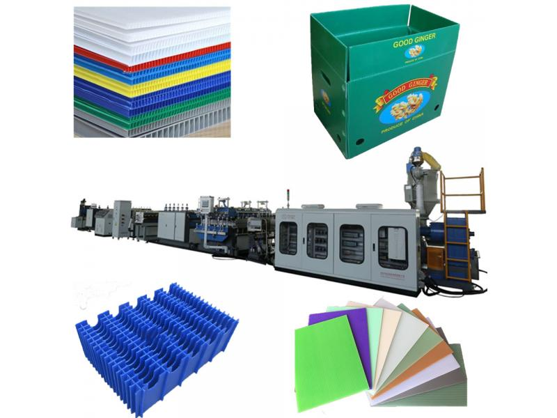 High quality PP/PC Polypropylene hollow corrugated sheet box extruder making machine