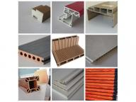 High quality PVC WPC wood plastic composite WPC window and door profile door frame extrusion making