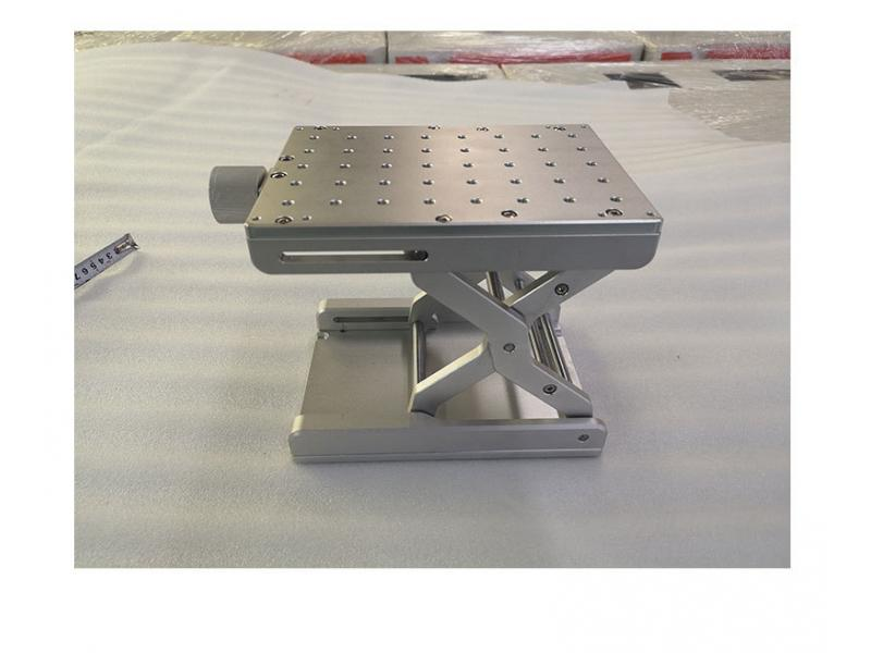One-dimensional scissor lift table