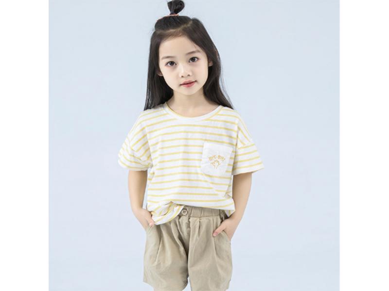 HR children's clothing girls t-shirt 2019 new summer short-sleeved cotton children's summer summer