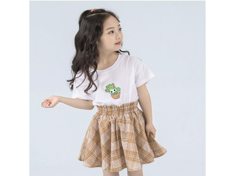 HR children's clothing girls t-shirt 2019 new summer short-sleeved T-shirt children's women's cot