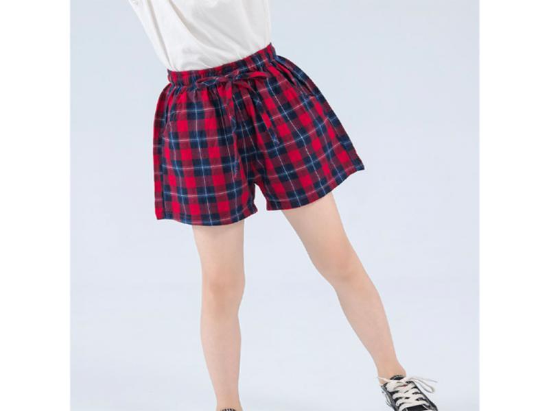HR children's clothing girls shorts 2019 new Korean version of the summer dress thin lattice childr