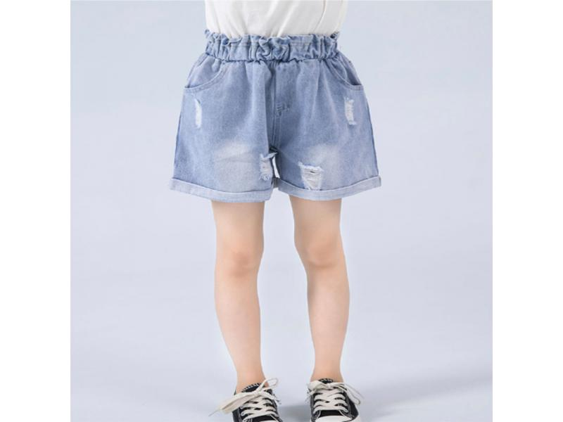 HR children's clothing girls shorts summer 2019 new wear wild riding breeches girls jeans summer ho