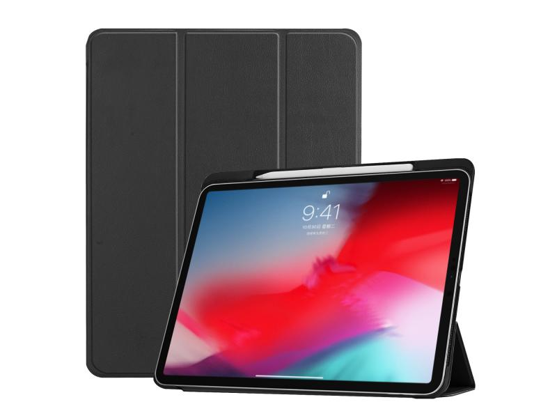 iPad Pro 11 2018 Folio Case,PU Leather Cover with Pencil Holder for iPad Pro 11