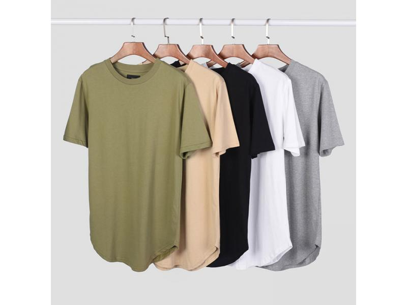 2019 hot sale Men's short sleeve curved hem t-shirt
