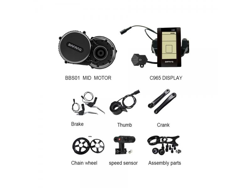 Bafang 8fun mid drive motor kits bbs02 48v 750w for electric bicycle