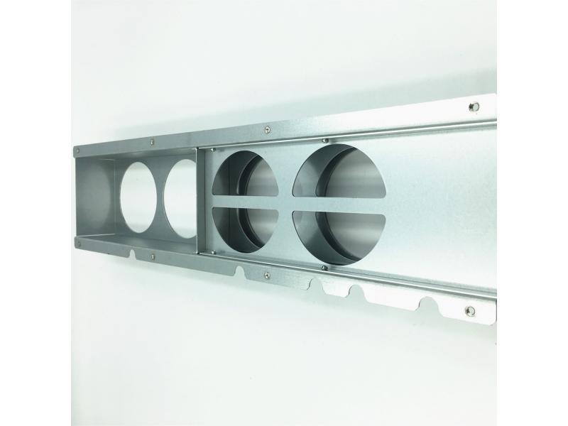 2019 China manufacture hot galvanized sheet metal fabrication laser cutting bending sheet metal fabr