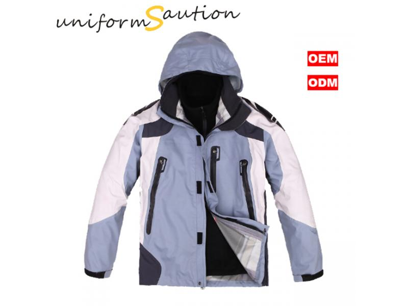 Custom 2 in one waterproof breathable windbreaker jacket