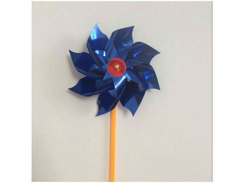 Plastic sheet small windmill Colorful decorative diy kindergarten