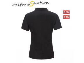 Custom design workwear beauty care lady Vneck collar t shirt