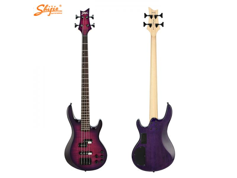 Shijie brand DF-4 gotoh japan pickups 4 strings bass guitar