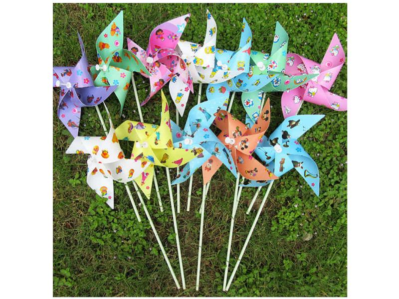 Outdoor color windmill windmill kindergarten decoration children's toy windmill