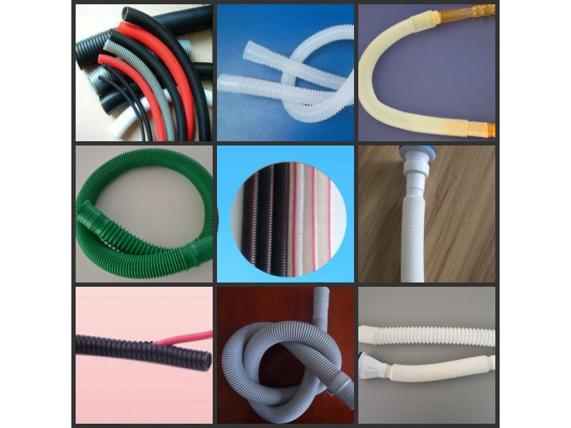 PP PE EVA PVC single wall corrugated pipe washing machine inlet outlet pipe air conditioner pipe pro
