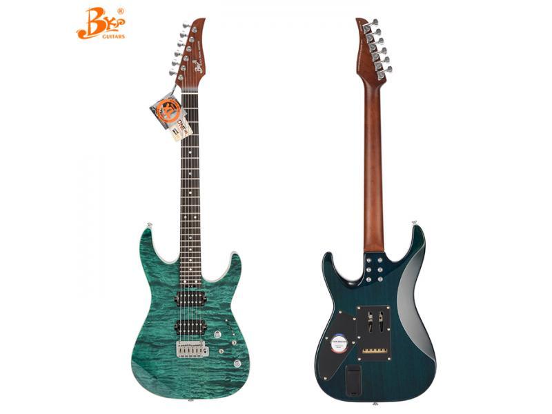 China Black pearl guitars TM-380 custom build roasted maple neck china electric guitar china factory