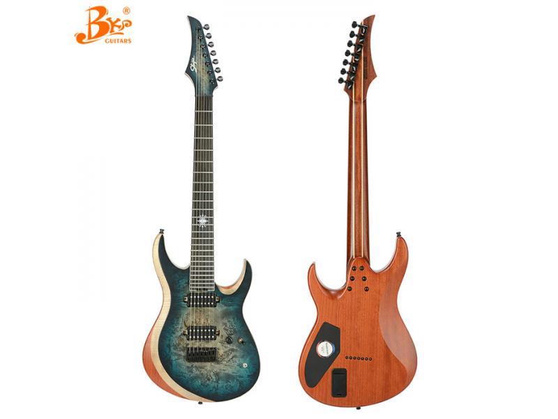 China Black pearl guitars 7 strings active pickups BP-7400B model electric guitar