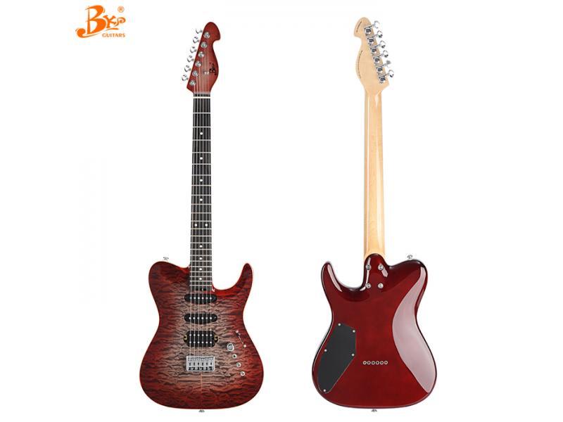 china Black pearl guitars RT-CUSTOM-RQ custom CNC build tele style guitar electric