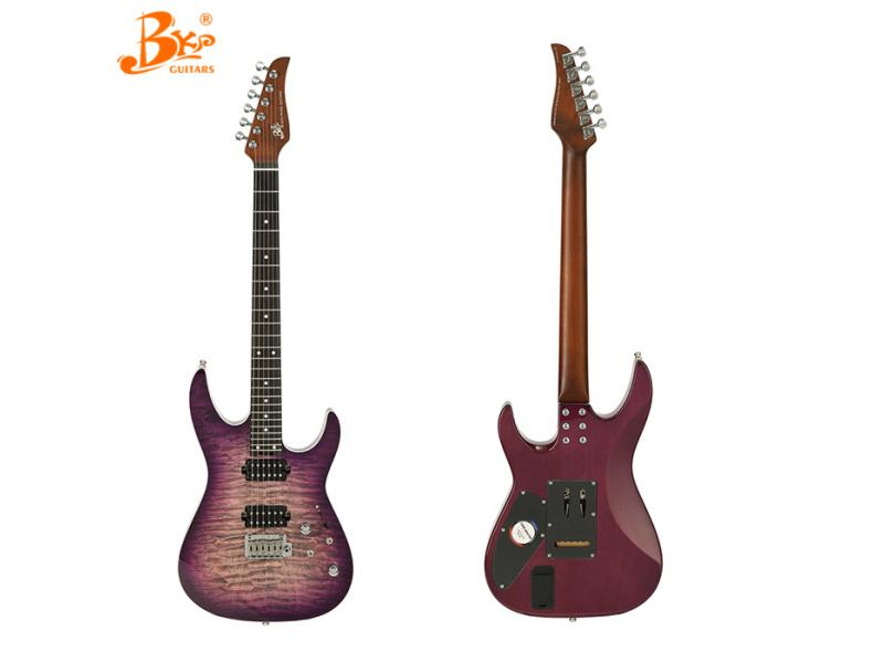 ready to ship BKP brand TM-380-P roasted maple neck carbon fiber neck electric guitar made in china