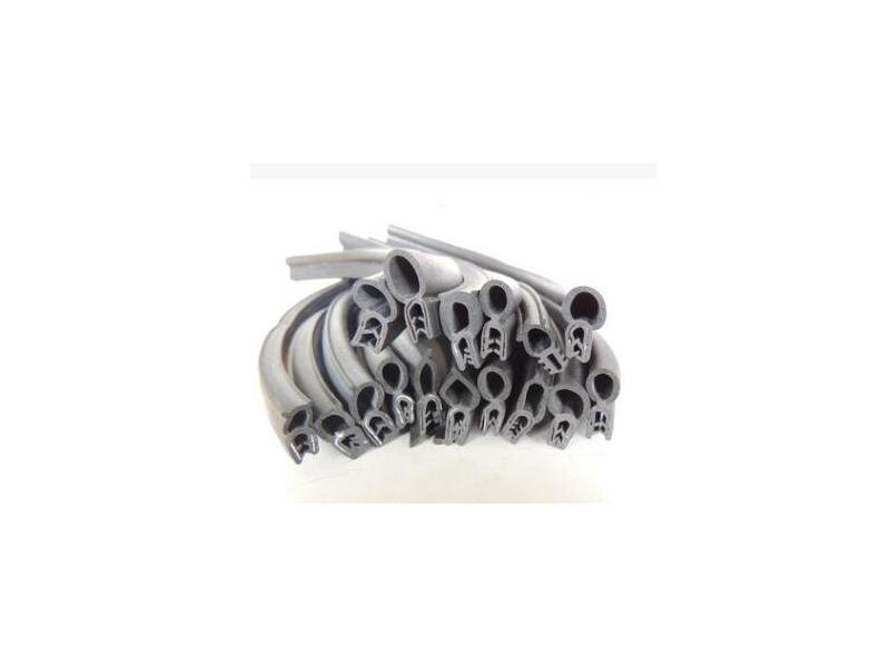 Side card steel belt u-shaped rubber sealing strip