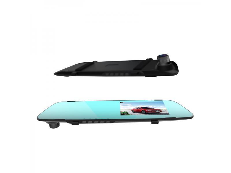 New rear view mirror dashcam 4.3-inch car hd recorder 360 panoramic streaming media camera