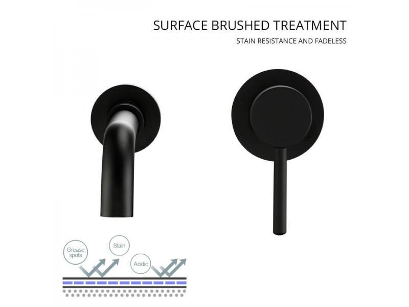 Wall Mounted Single Handle Bathroom Wash Hand Basin Faucets