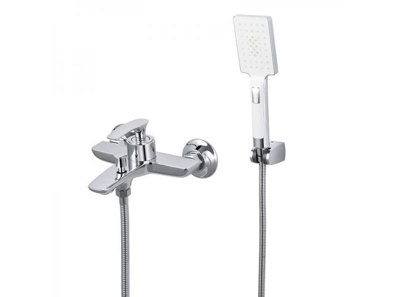 Bathroom Double Diverter Hot Cold Water Bath Shower Mixer