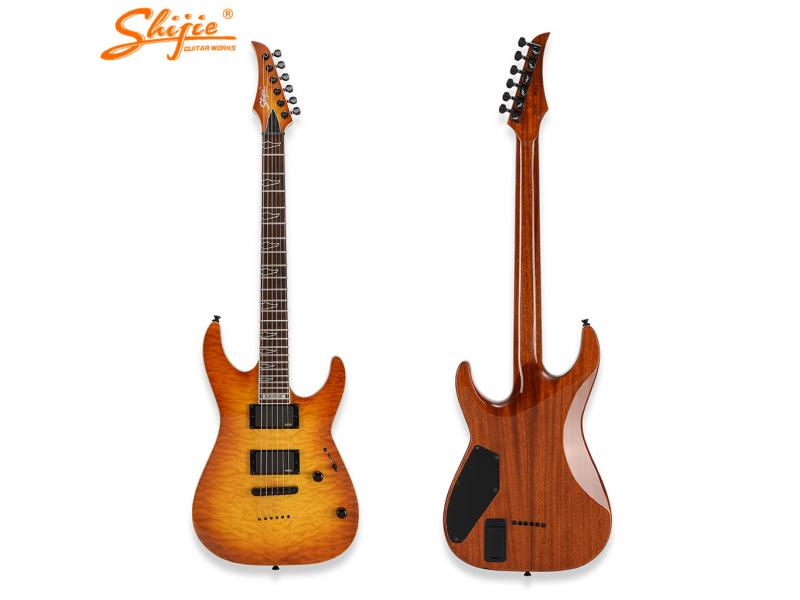 ready to ship stock shijie BP-EMG model high end handmade electric guitar EMG pickups