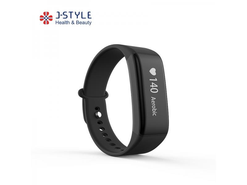 J-Style Fitness Tracker with Continuous Heart Rate Monitoring