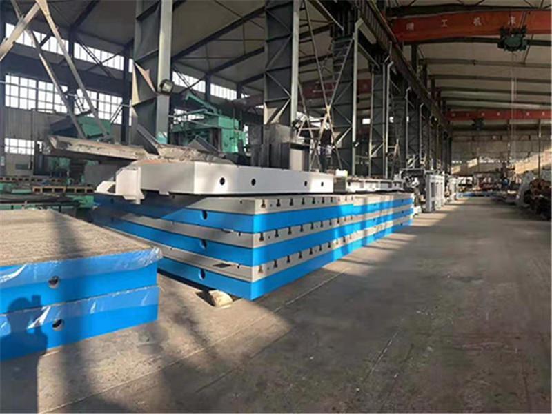 Cast iron t-groove platform