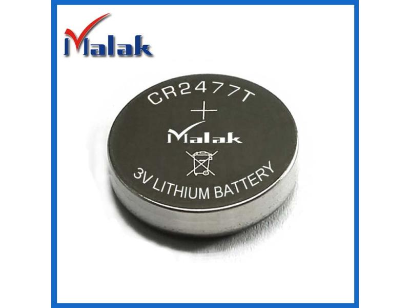 High capacity CR2477 button battery battery soldering foot plus line