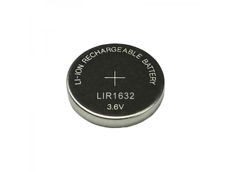 Rechargeable LIR1632 battery soldering foot battery plus wire