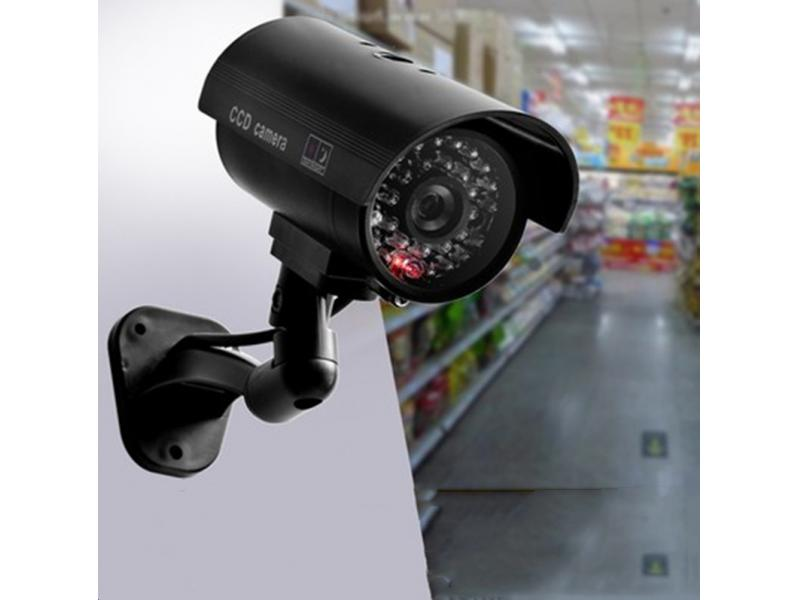 Waterproof simulation monitoring camera with flashing lights fake camera with simulation power cord