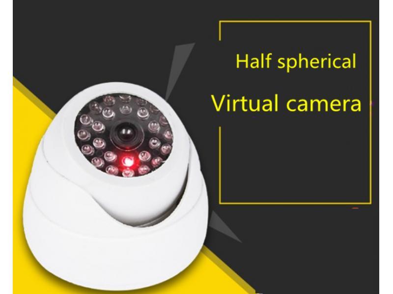 Semi-spherical simulation surveillance camera