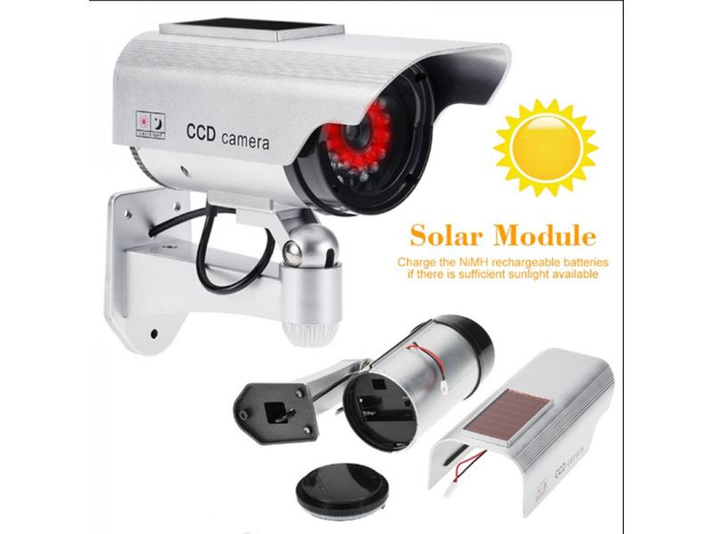Solar simulation camera simulation camera fake monitoring camera night vision 30 lights