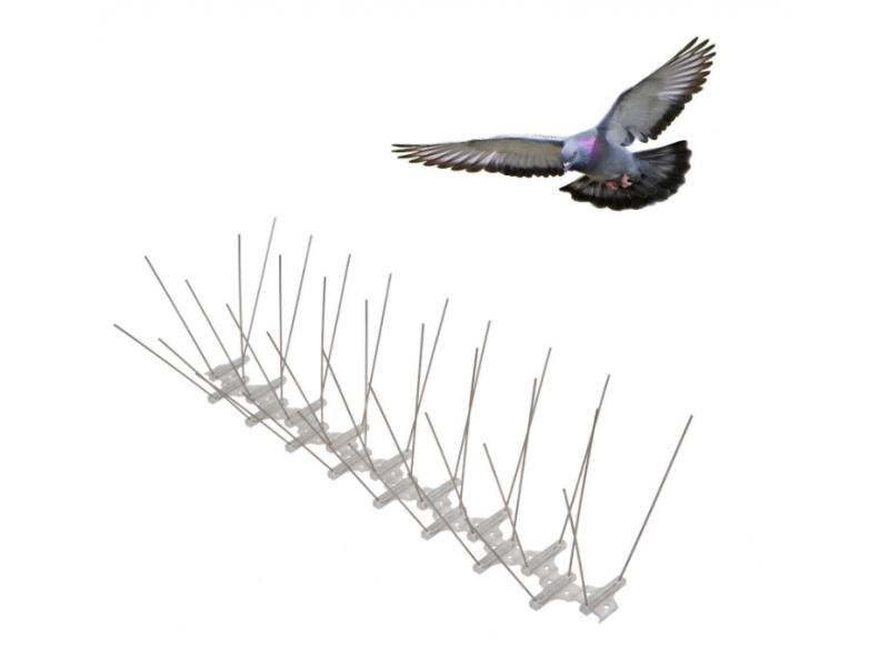 Bird Pigeon Spikes, 2 rows, 50 cm Base Length Stainless Steel Pigeon Spikes